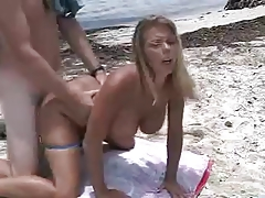 Amber Lynn Bach hot beach sex