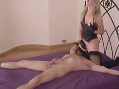 Chained To The Bed Licking Pussy