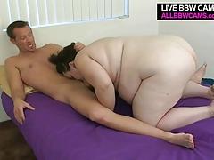 Large Fattie Gal Fucks And Sucks Chubby Plump Tits Bbw