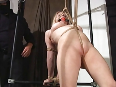 Dumb blonde amp a pussy rope
