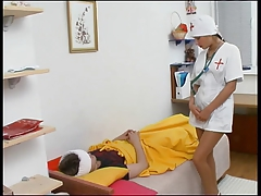 Russian teenager and nurse