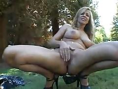 Horny big tit blonde milf