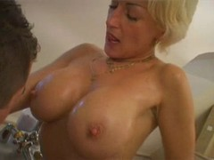Milf fucking in the bathtub