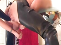 Mistress fisting guys asshole