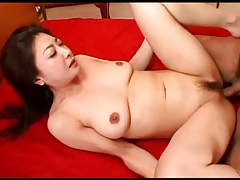 Pretty Japanese MILF hot cunt creampied