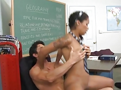 Chocolate skin School Girl Gets Her Grades Up By Blondelover