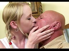 Grandpa Fuck His Young Girlfriend Creampie Part I