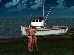 Passionate Animated Babe Having Sex