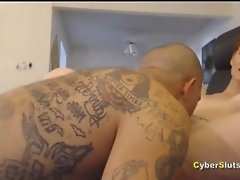 Redhead Pussy And Ass Destroyed By Gangster