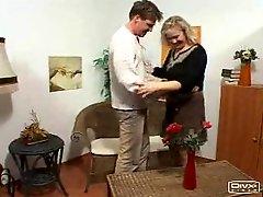 Blonde Milf Mature Open Ass Hole