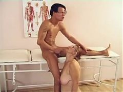 Granny Doctor With Big Boobs Fucked By A Patient