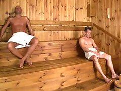 Hot MILF 3some In Sauna