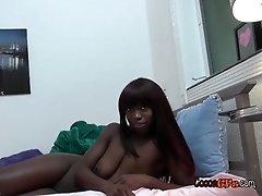 Hot Ebony Babe Sucks So Cold And Juicy