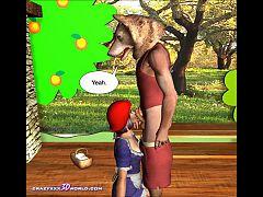 3d Comic The Little Red Hood