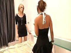 Blonde Lesbian Fucks Her Maid
