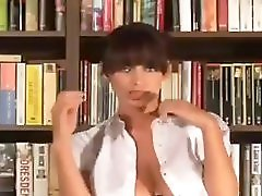 Sophie Howard Strips In Library