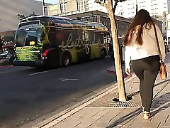 Clothed 18 Year Old Candid Big Butt In Black Tights