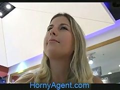 Hornyagent Jennifer Rides In The Car Park
