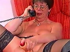 French Mature Plows Her Pussy With Plastic 2