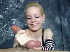 Hot Sadistic Little Minx Enjoys Giving A Very Rough Hand Job
