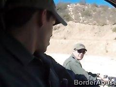 Gypsy Redheaded Beauty Fucks Police Across The Border