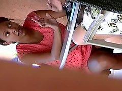 Cute Black Chick At Starbucks 2