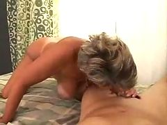 Hot Busty Mature Blowjob