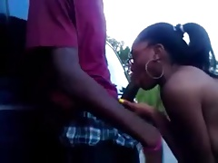 Black Girls Gives Bj Outside