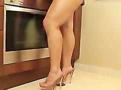 Megan Avalon Kitchen Striptease