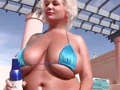 Big Boobs At Swimming Pool