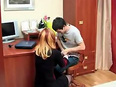 Catching Brother Wanking Gets Not His Sister Horny !