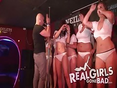 Sexy Girls Strip On Stage For Spring Break Wet T Shirt Contest