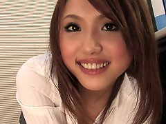 Cute Slim Asian Girl Massages Cock With Her Feet