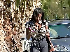 Pierced Chocolate Snatch Takes A Bbc Nailing