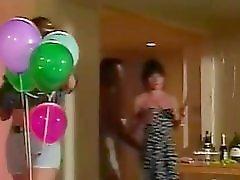 Birthday Dildo Threesome Surprise