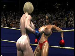Fpz3d S Vs G 3d Toon Fistfight Catfight Big Tits One Sided