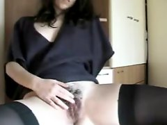 Hairy Babe Pussy Masturbate