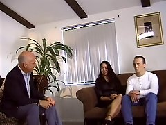 Cuckold Watches His Wife Sucks A Hard Cock On Couch