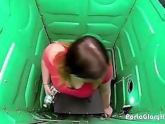Porta Gloryhole Bbw Swallows Cum In Gym Lot