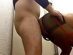 Mature Crossdresser Kinky Mariko Fucked By Young Guy
