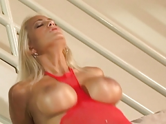 Blonde Hottie Goes After A Big Hard Cock