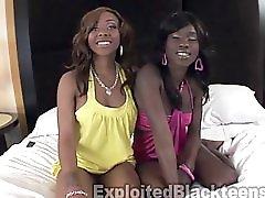 Cute 18yr Old Black Teen Schoolgirls In Threesome