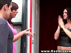 Hottest Brunette Euro Hooker Fucked By Her Client