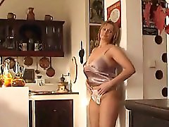 Mature Housewife Fucks Herself