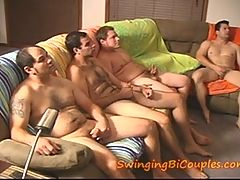 5 Bi Guys And 1 Cum Eating Wife