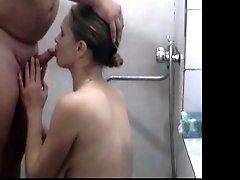 Blond Russian Milf Sucks And Fucks Her Hubby's Small Cock