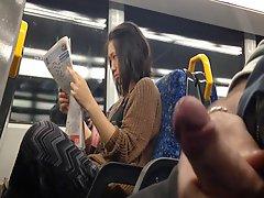 Flash Asian Girl On Train