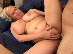 Blonde Mature Fucks A Guy