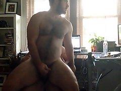 Tatted Bear Breeds Makes Bearded Bottom Cum