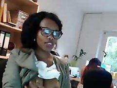 Sexy Ebony Secretary Tits Flash